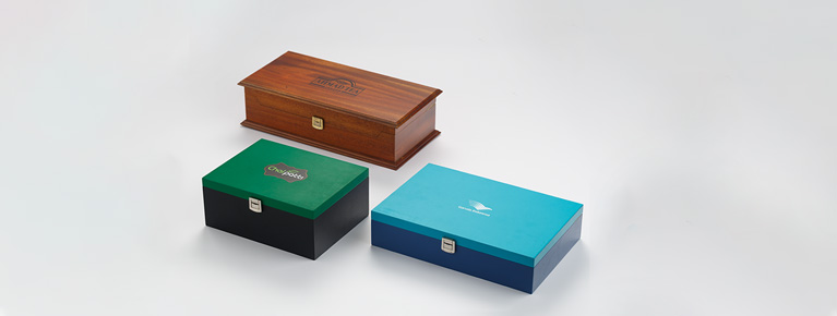 Collection of Timber Concepts Wooden Tea Presenters