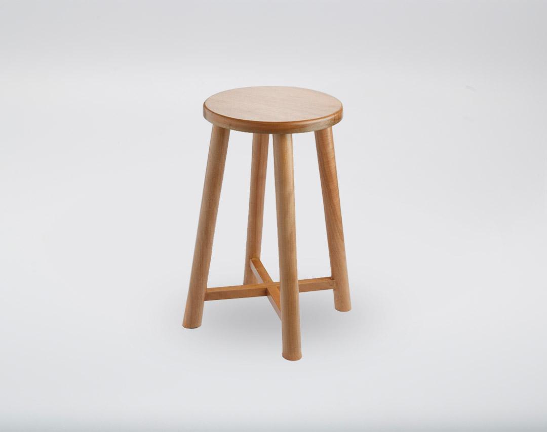 Okume Wood Stool